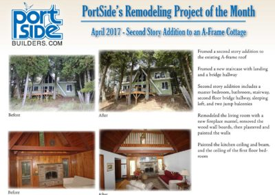 Remodeling Before and After Photo for April 2017