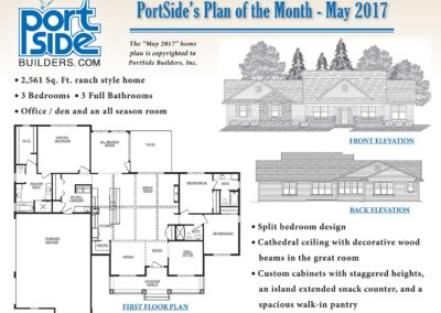 PortSide Builders May 2017 Home Plan