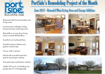 PortSide Builders June 2017 Remodeling Project of the Month
