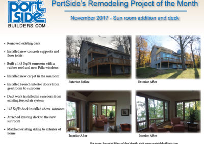 remodeling, Home remodeling. home addition, sunroom, deck, new construction, new windows