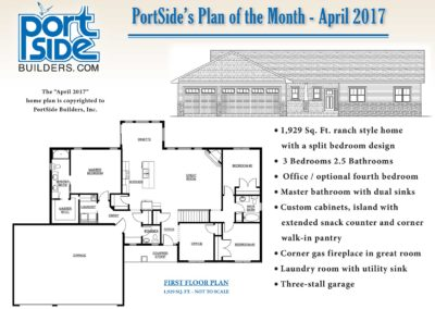 home plan, Custom Ranch Style Home Designed by PortSide Builders