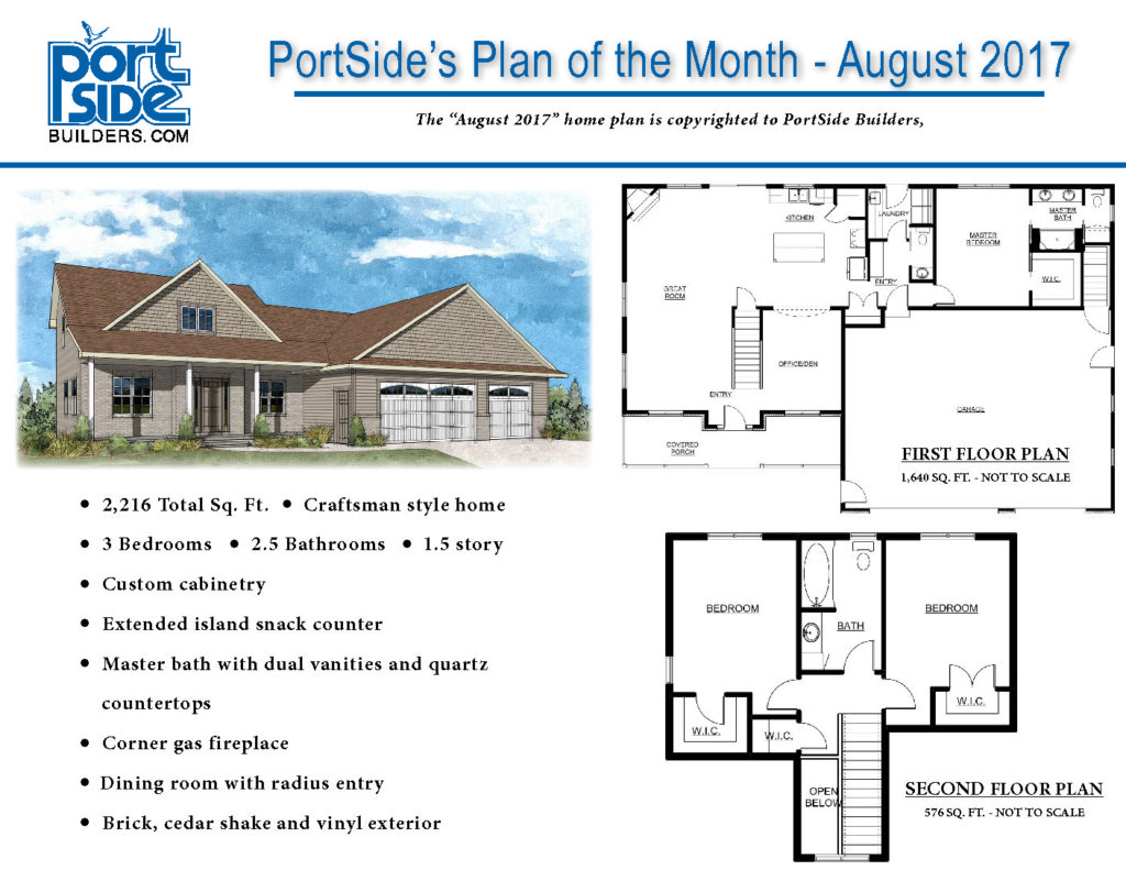New Custom Designed and Built PortSide Builders Home