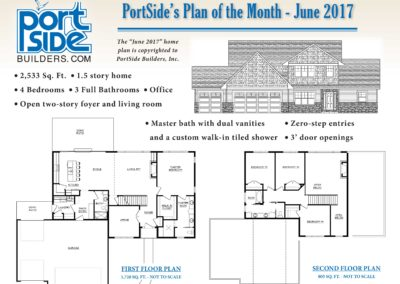 PortSide Builders June 2017 Home Plan