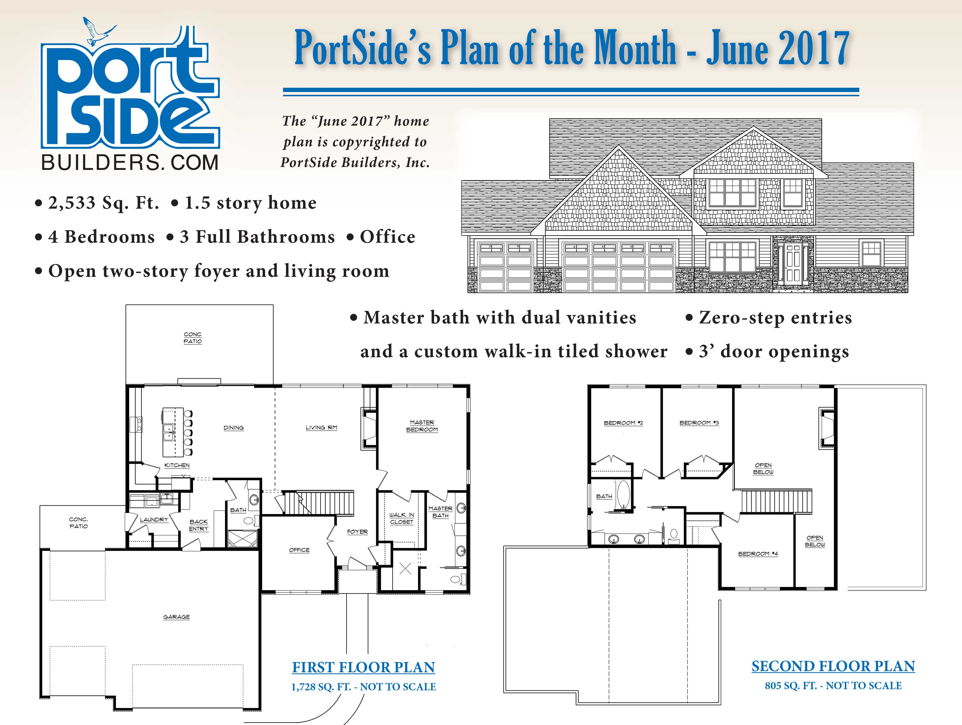 home plan of the month portside builders new home ideas portside builders june 2017 home plan