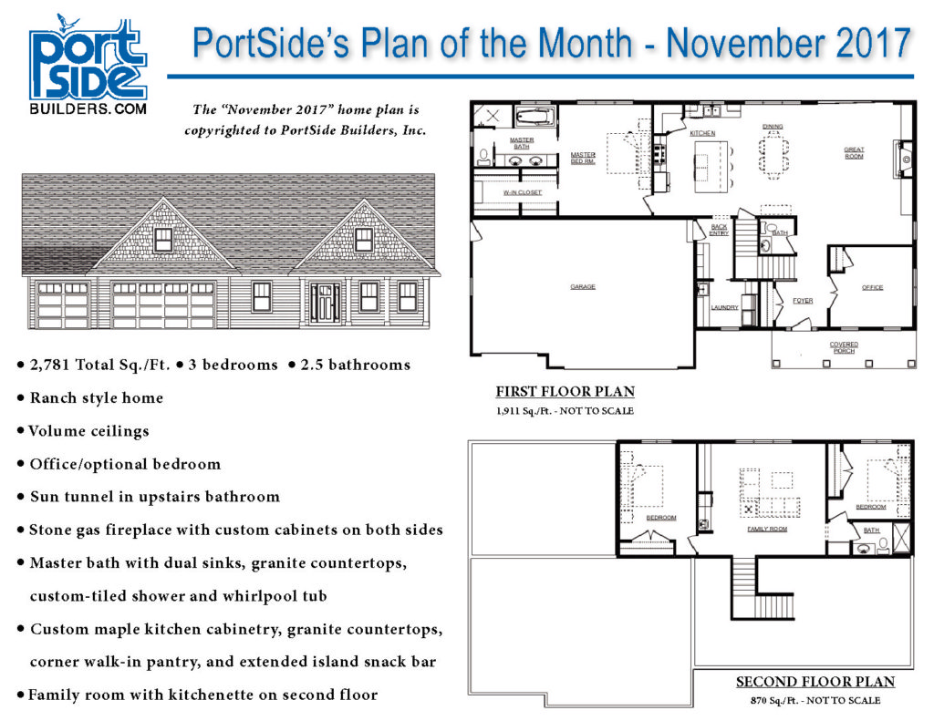 Home Plan Of The Month PortSide Builders New Home Ideas - New home plan