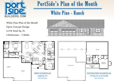 portside home builders, plan of the month, floor plans,home ideas,commercial construction companies, planning, wisconsin,design,new construction