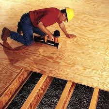 attaching plywood sub-floor