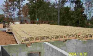framing with floor trusses
