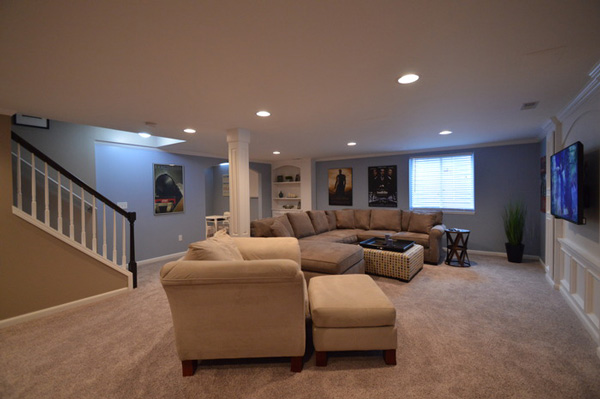 Finishing Your Basement Increase Living Space PortSide Builders Simple Basement Ideas Images Property