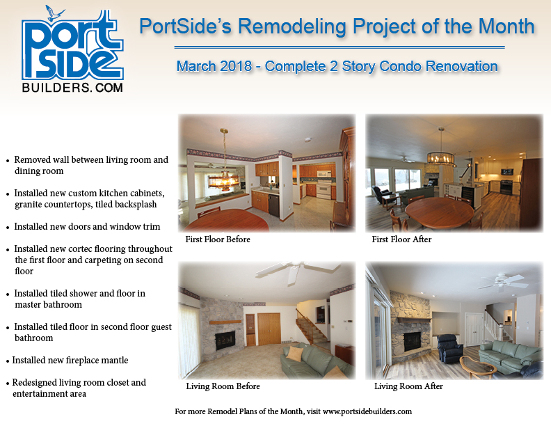 remodeling projects of the month portside builders wi pro remodelers