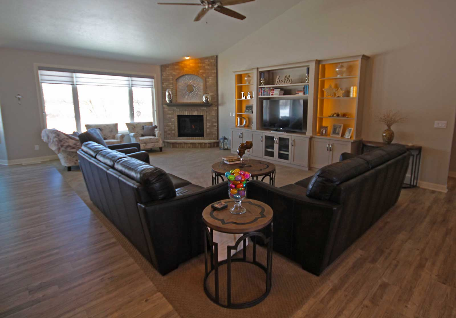 Beautiful living room of a PortSide Builders home in Fond Du Lac ...