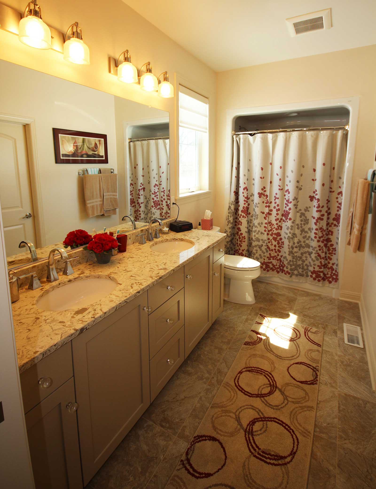 Master bathroom of a PortSide Builders home in Fond Du Lac ...
