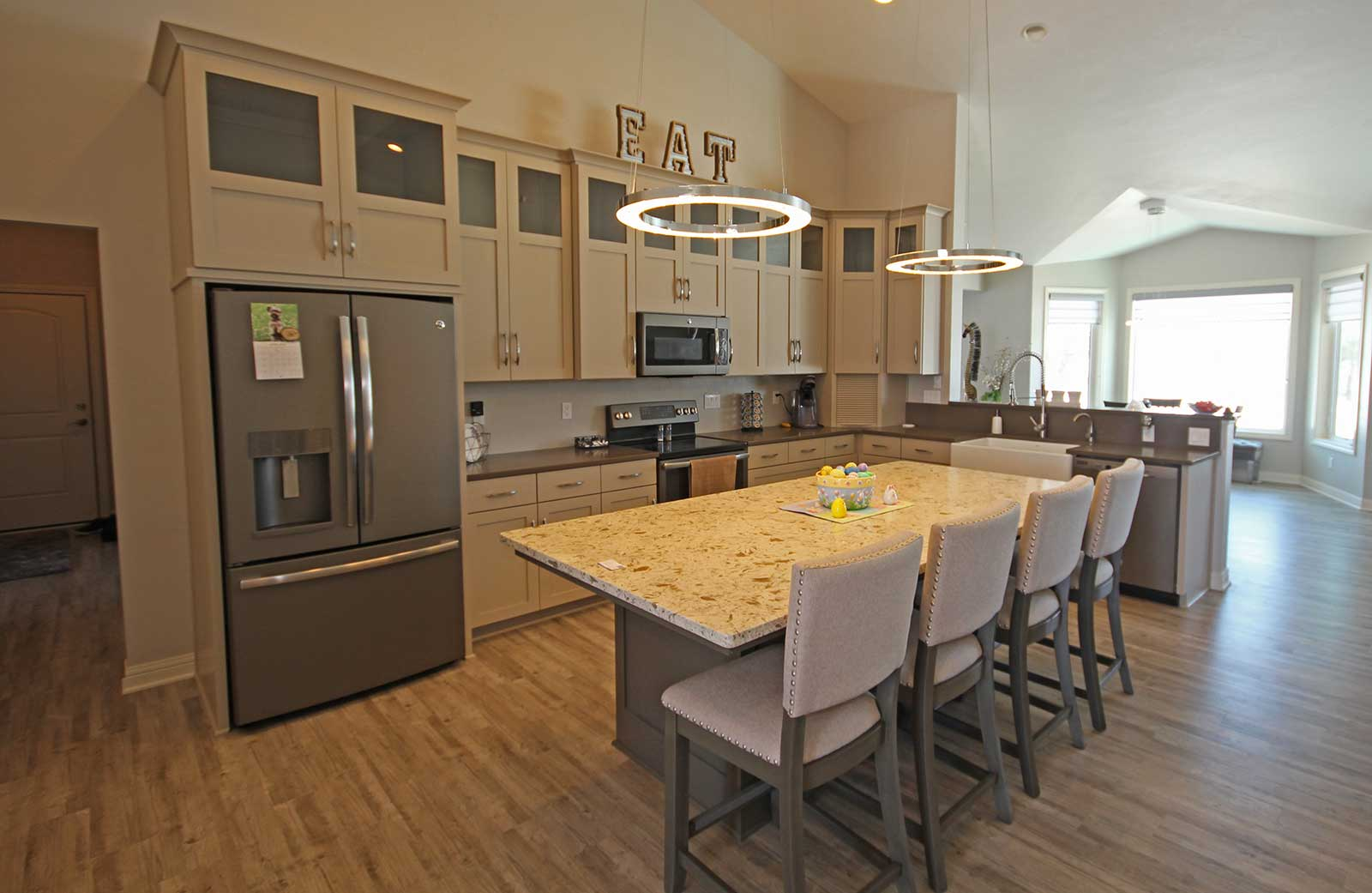 Custom-built kitchen of a PortSide Builders home in Fond Du Lac ...