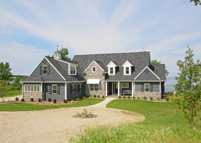 Custom-built waterfront homes in Door County.