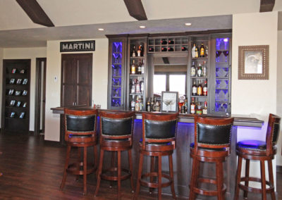 Basement finish, lower level renovation, home renovation, home remodeling, door county, home additions, basement bar, custom built bar, basement ideas, lower level living space