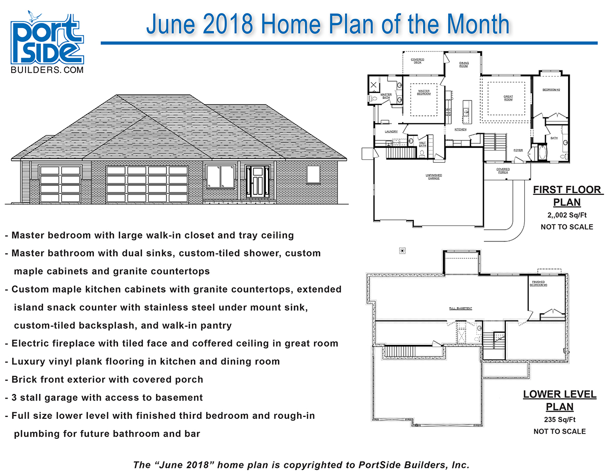 Home Plan Of The Month Portside Builders New Home Ideas