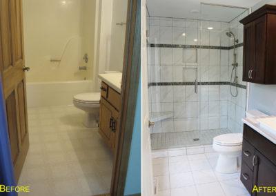 guest bathroom, home remodel, home renovation, door county, fox valley, home builders, custom homes, sister bay wisconsin