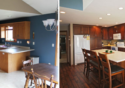 kitchen remodel, home improvements, home builders, fox valley, fox cities, custom maple cabinets, laminate flooring, Delta faucets, under counter lighting, custom design