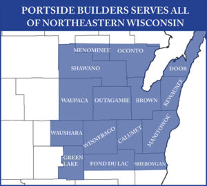 PortSide Builder's Service Area Map
