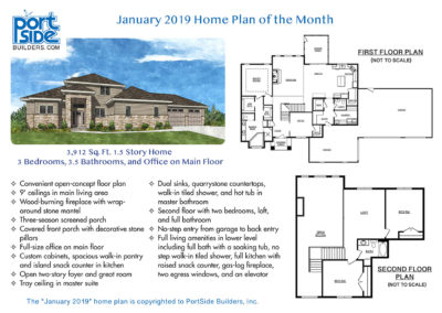 3,912 Sq.ft home, 3 bedrooms, 3.5 bathrooms and home office. Custom designed home in Appleton, WI