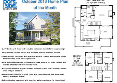 October 2018 Home Plan of the Month by PortSide Builders.
