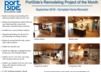 September 2018 Remodel Project of the Month, PortSide Builders