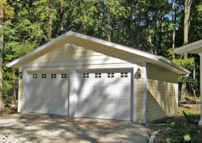 Detached 2 stall, cottage style garage in Door County, WI.
