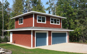 Detached garage with apartment above, in Door County, WI.
