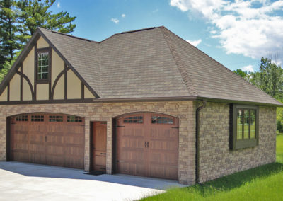 Detached Garage with arched doors in Oshkosh, WI