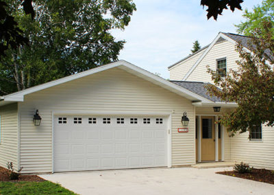 New attached garage addition with breezeway