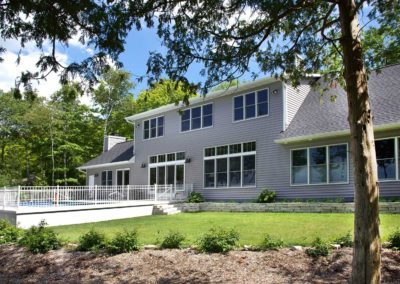 New waterfront home in Egg Harbor, Wisconsin.