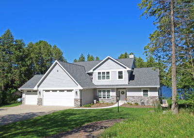 New custom-built waterfront home in Sturgeon Bay, Wisconsin.