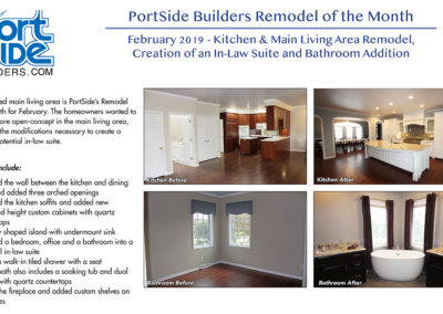 Kitchen, dining room remodel and mother-in-law suite addition by PortSide Builders NE Wisconsin