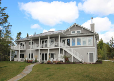 Custom-designed waterfront home in Baileys Harbor, Door County, WI.