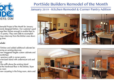 Kitchen remodel and corner pantry addition by PortSide Builders
