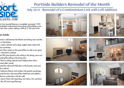 Portside Builders remodel of a condo unit and addition of loft space.