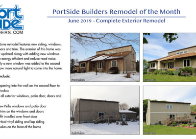 Portside Builders exterior remodel, new siding, windows and doors.