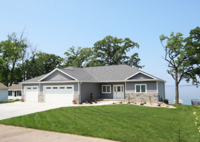 Custom construction waterfront home in Winneconne, WI