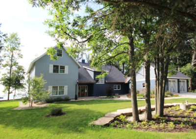 New custom-built waterfront home in Sturgeon Bay, Door County.