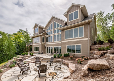 Custom-built waterfront home in Ellison Bay, Door County.