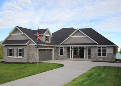 New custom-built waterfront home in Algoma, Wisconsin.