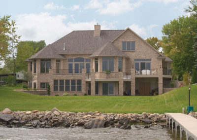Luxury waterfront home designed and built by Portside Builders in Oshkosh, WI