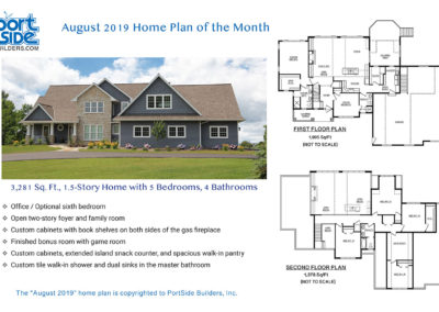 Custom Home Plan Designs from PortSide Builders, Appleton, WI