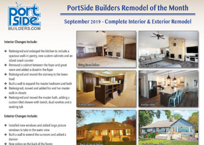 PortSide Remodel of the Month Project September 2019
