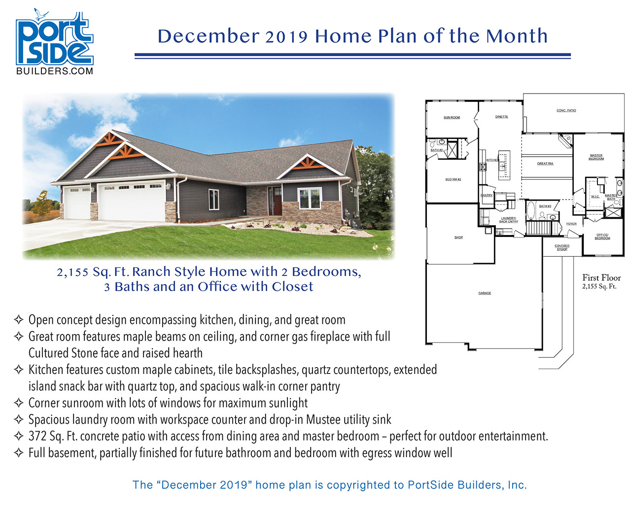 Home Plan of the Month - PortSide Builders • New home ideas Ranch House Design Ideas Commercial Office on commercial signage ideas, office space planning ideas, school office layout ideas, commercial office landscaping, commercial floor design, commercial garden ideas, office desk ideas, commercial office signs, commercial decoration ideas, industrial office ideas, office renovation ideas, commercial office inspiration, commercial holiday decorating ideas, commercial office buildings, office signage ideas, commercial modern sofa, commercial insurance ideas, commercial office keurig, accessorizing ideas, commercial photography ideas,