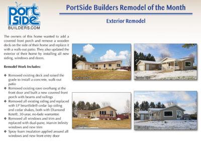 Oshkosh exterior home update by PortSide Builders, Inc.
