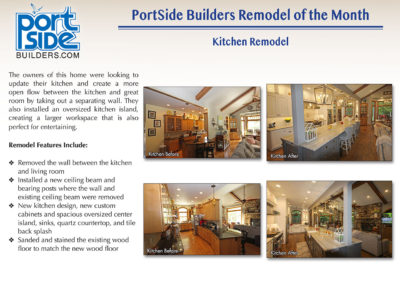 Kitchen remodel by PortSide Builders, Door County, WI