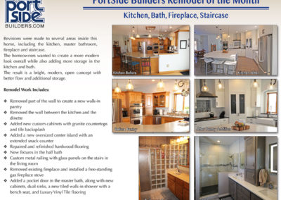 Kitchen, Bath, Fireplace, Staircase remodel in Appleton, WI. Creating a modern, open concept.