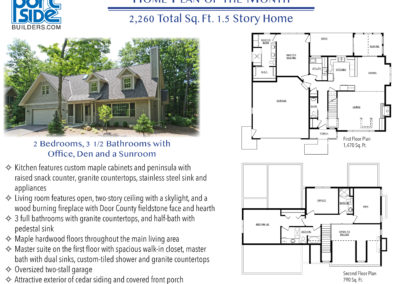 Custom Home Plan Design 2 bedroom, 3 1/2 Bathroom