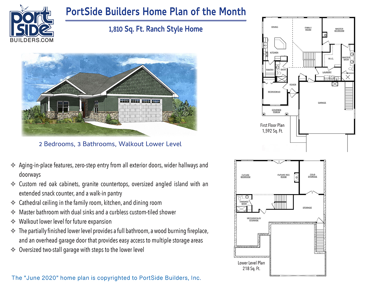 Ranch Style Home with Lower-Level Walkout and Aging in Place Features. New Home Construction in Appleton, WI